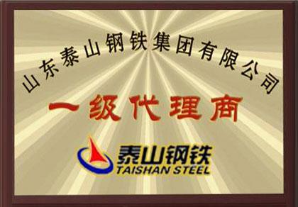 山东泰山钢铁集团有限公司一级代理