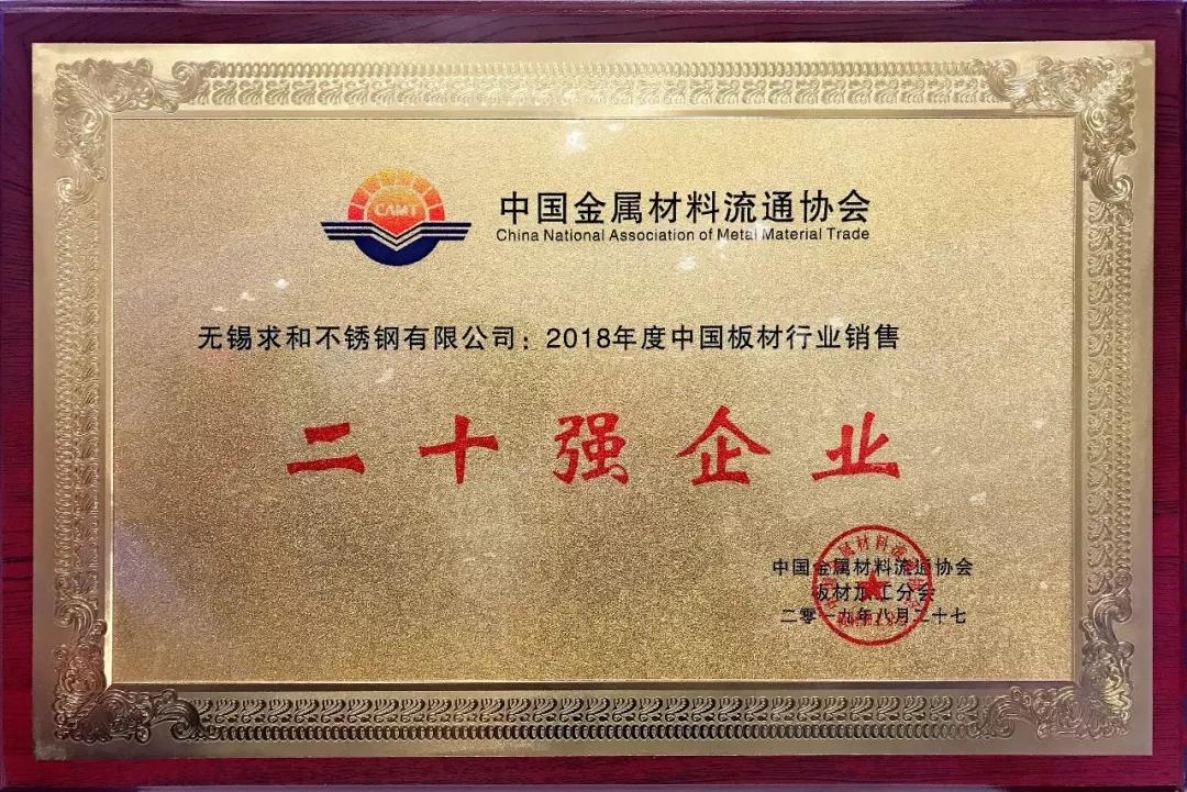 中国板材行业销售二十强企业