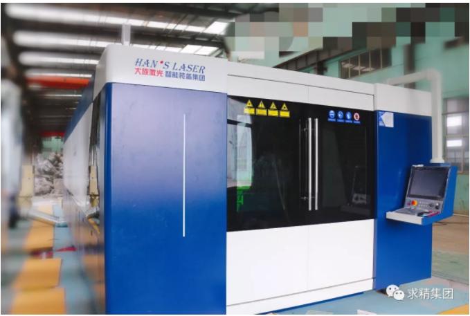 新引进8000W光纤激光机首批激光件展示